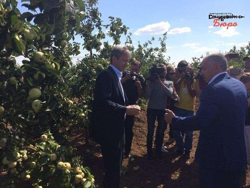 Министр сельского хозяйства осматривает «Сады Придонья»