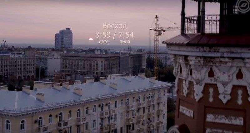 Закат в Волгограде