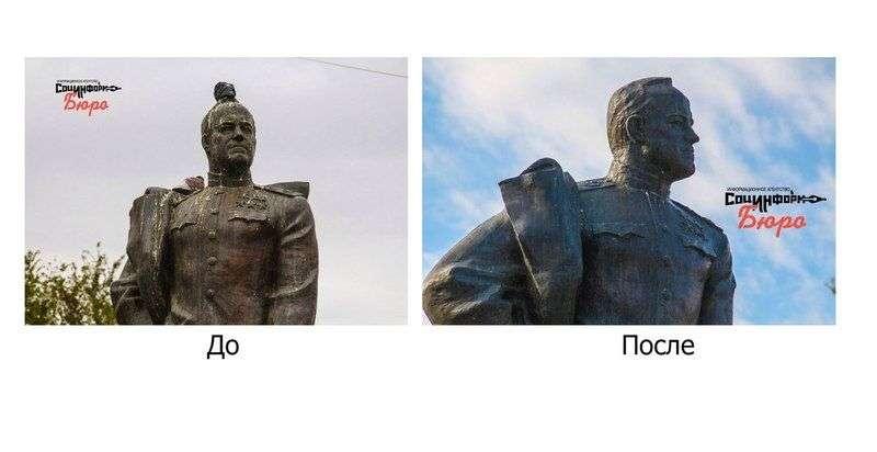В Волгограде монументу Жукова придали первозданный вид
