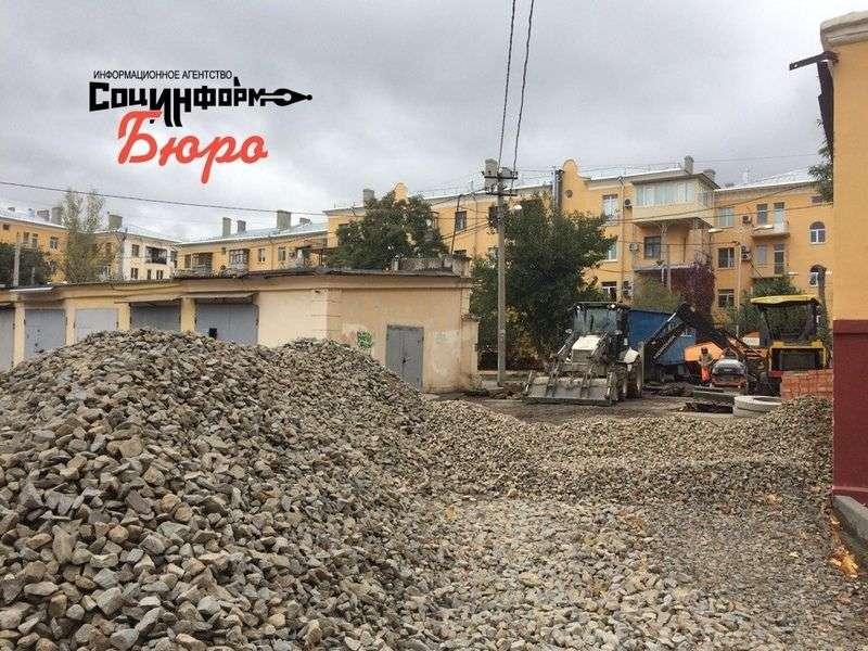Благоустройству дворов Центрального района помешал октябрь
