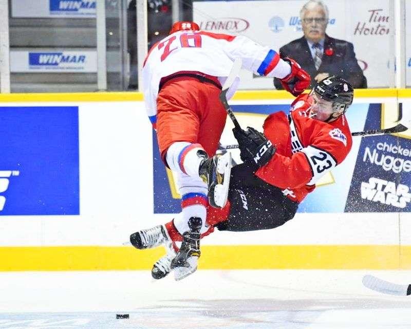 Россия вышла вперед в «Canada Russia Series»