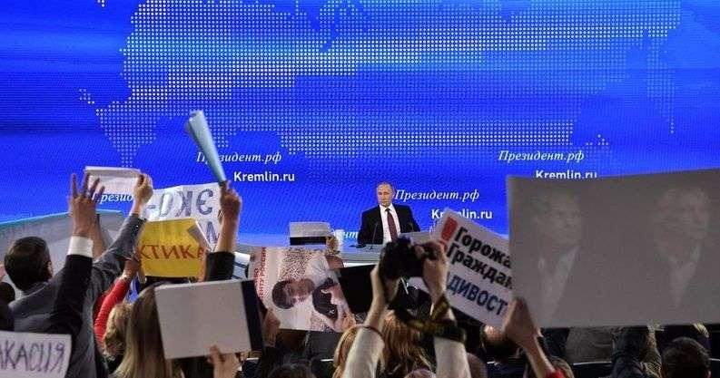На большую пресс-конференцию Путина аккредитовано рекордное число журналистов