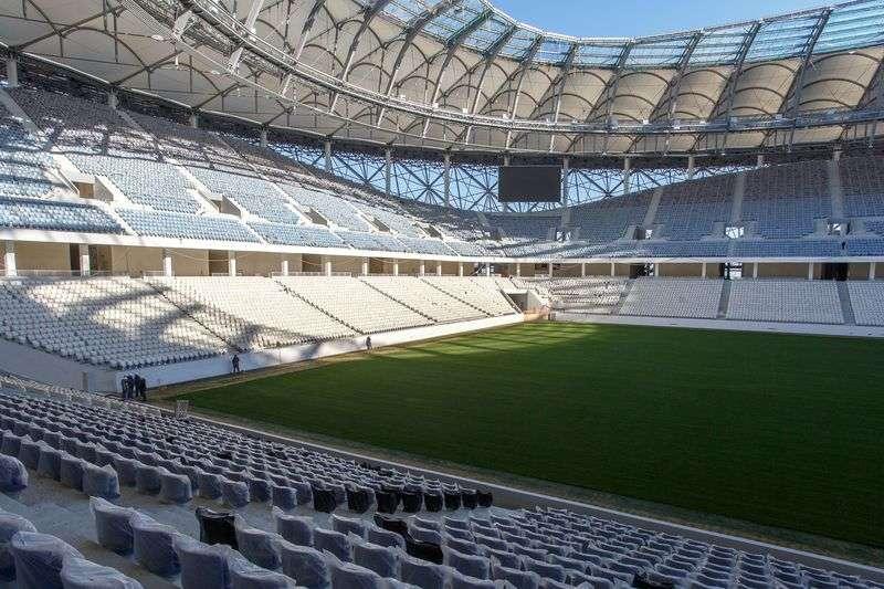 Фотоотчет о ходе строительства стадиона