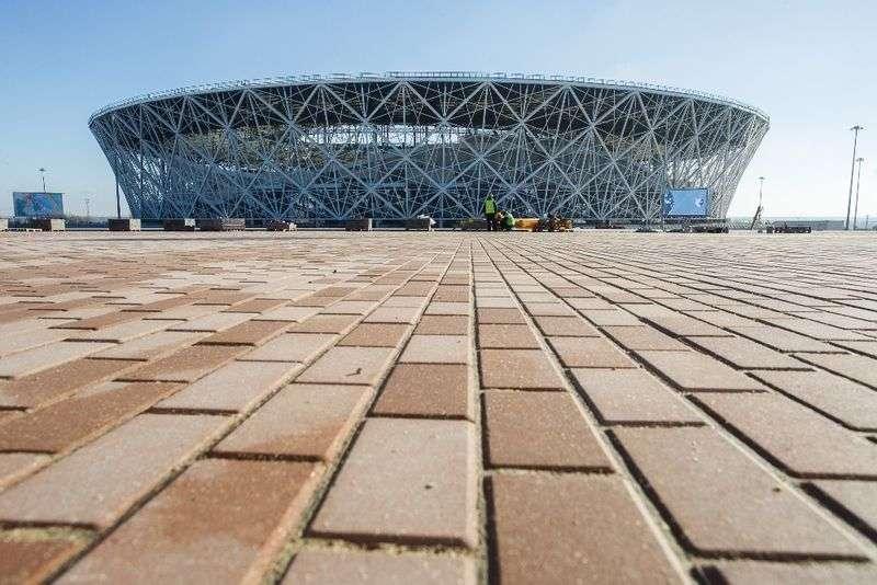 На стадионе «Волгоград Арена» проходят учения
