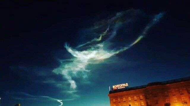Небесный след над Волгоградом оставила ракета