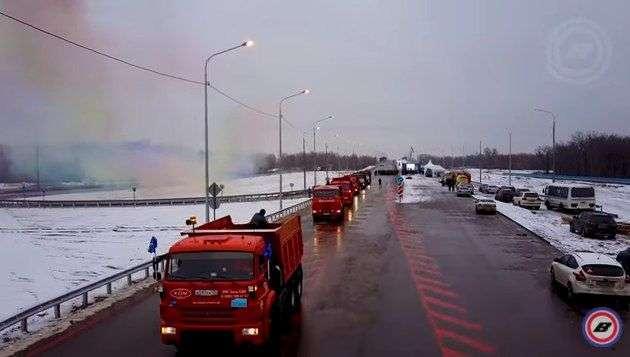 Открытие моста через Ахтубу сняли квадрокоптером