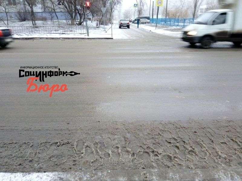 Волгоградские коммунальщики реагируют на гололед