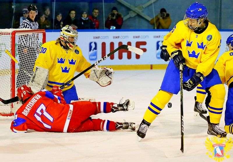 Россиянки уступили Швеции. Видео
