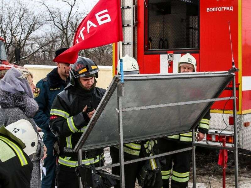 В Волгограде ликвидировали условный пожар