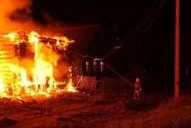 Страшный пожар унес жизнь мужчины