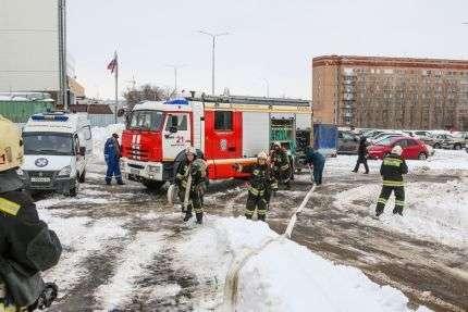 В Волгограде ликвидировали условный пожар в больнице №25. ФОТО