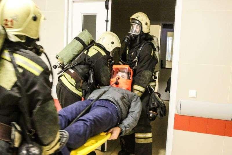 В Волгограде ликвидировали условный пожар в больнице №25