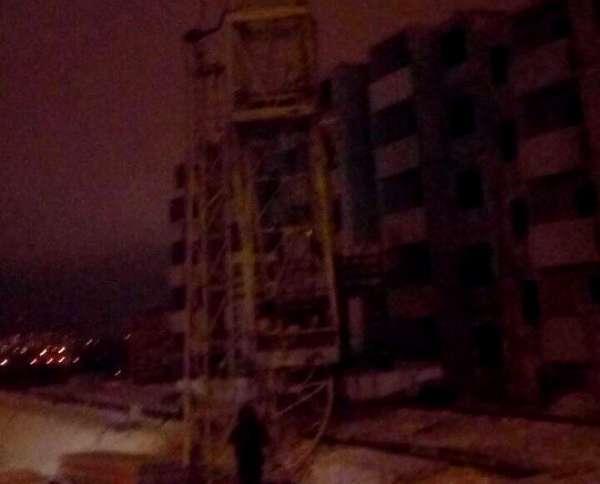 В Советском районе на стройке рухнула стрела башенного крана