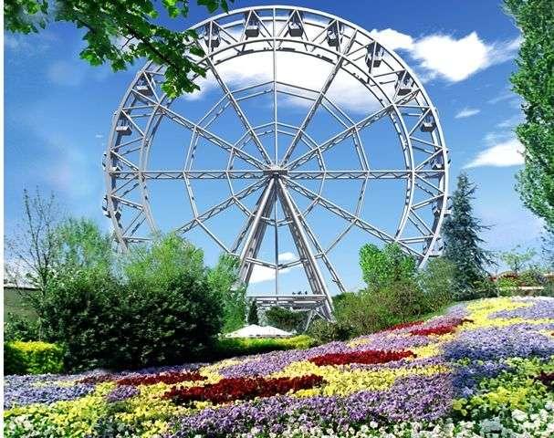 В Волгограде устанавливают колесо обозрения с отоплением