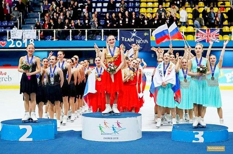Фигуристки «Юности» выиграли Чемпионат мира в Хорватии
