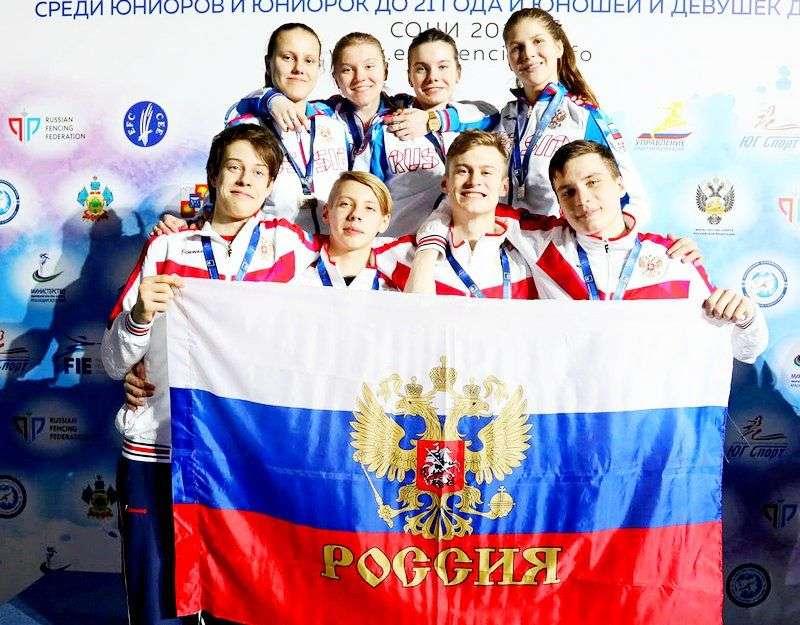 Российские «мушкетеры» выиграли золото на юношеском ЧЕ – 2018