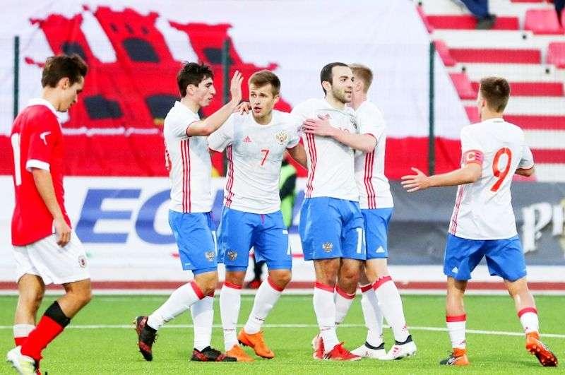 Российская «молодежка» разгромила Гибралтар