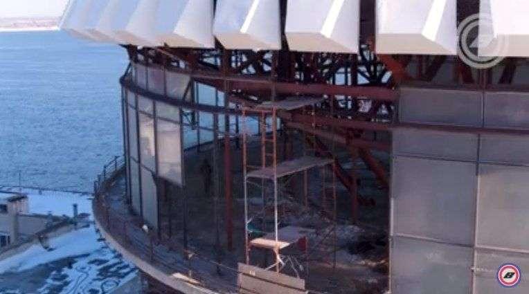 В Волгограде квадрокоптер запечатлел начало реконструкции