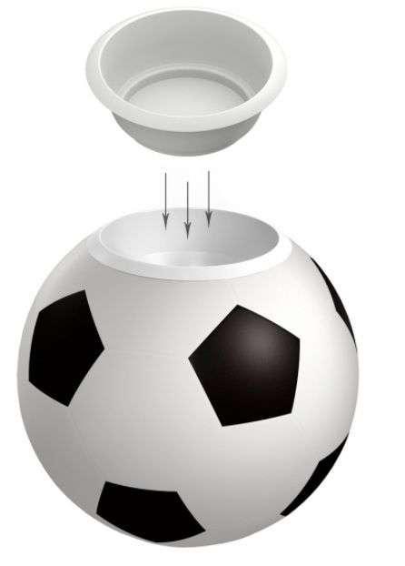 В Волгограде установят цветочницы в виде футбольного мяча