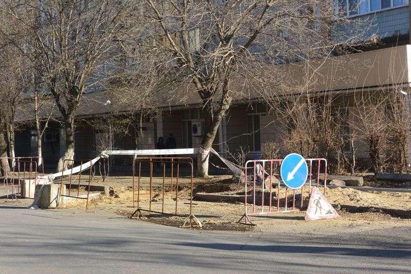 На улице Коммунистической сузят проезжую часть