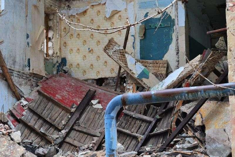 На Жолудева снова обвалилось общежитие. ФОТО