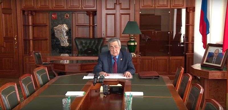 Тулеев объяснил причины отставки в видеообращении