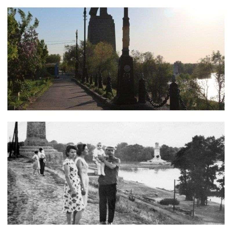 Журналисты сравнили старые снимки