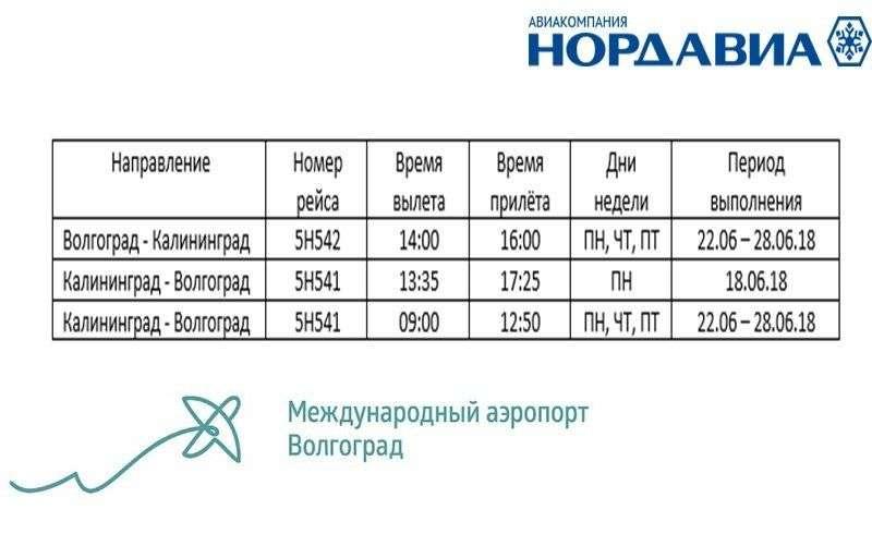 Волгоградцы смогут отправится прямым рейсов в Калининград