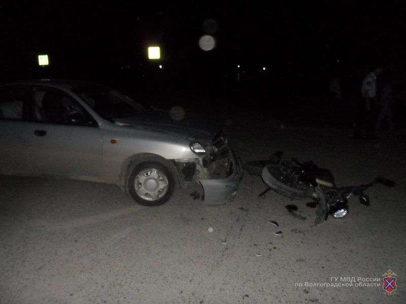 В Жирновском районе подросток на мотоцикле угодил под колеса иномарки