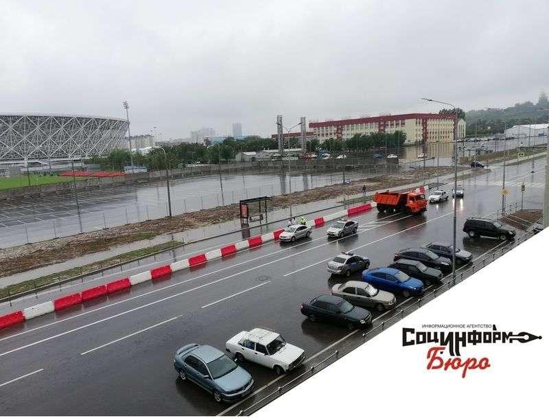В Волгограде снова перекрыли Нулевую продольную