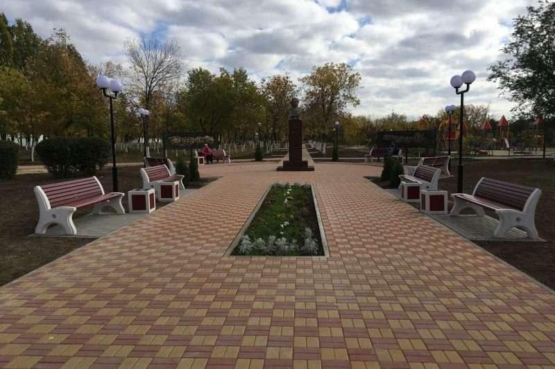 В городе Петров Вал обновили городской парк