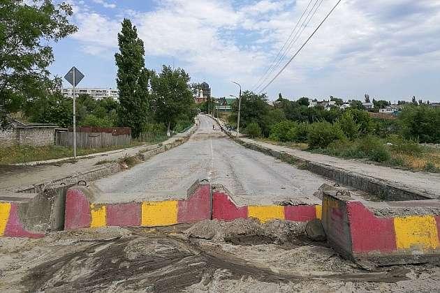 В Городище началось восстановление моста
