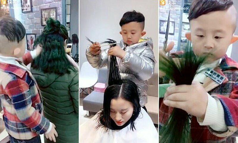 6-летний парикмахер из Китая стал звездой соцсетей