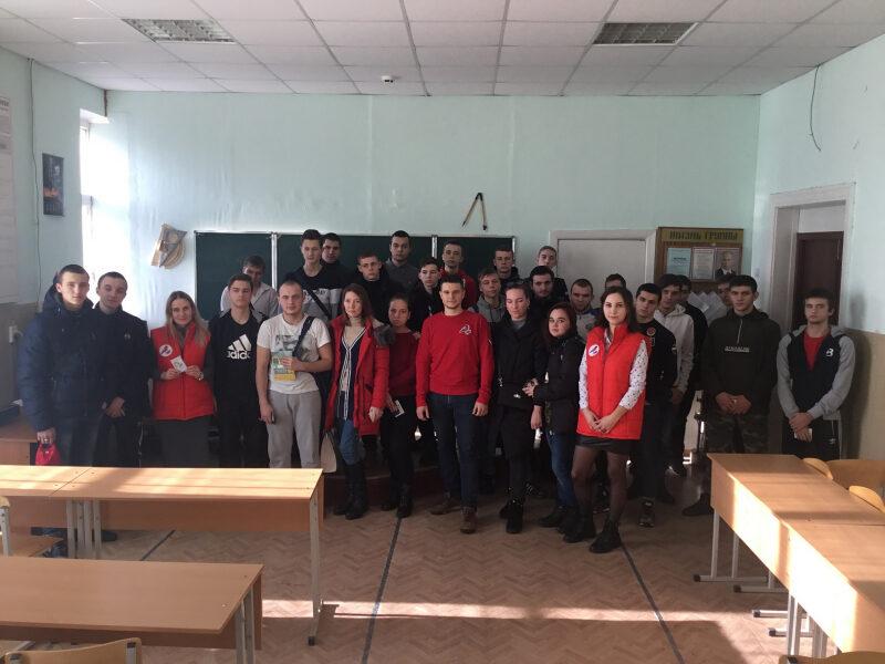 Молодые общественники поделились студенческим опытом с юными товарищами