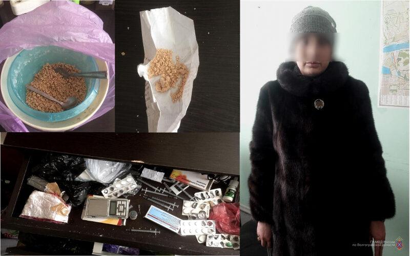 Волгоградку задержали в Центральном районе за распространение героина