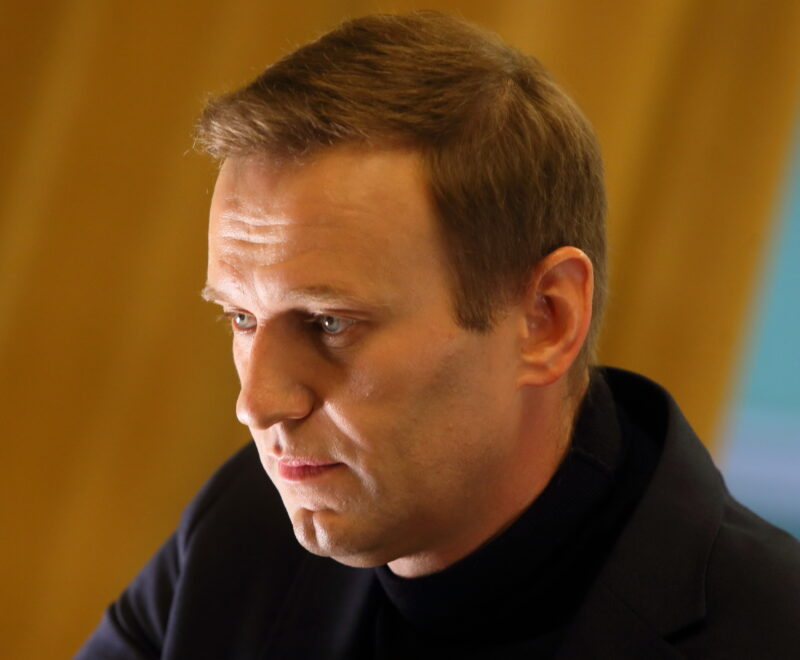 Alexei Navalny held a meeting with supporters in St. Petersburg,