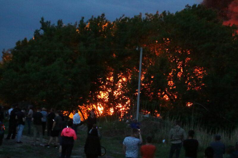 В Волгограде горит дом «короля пластика»?