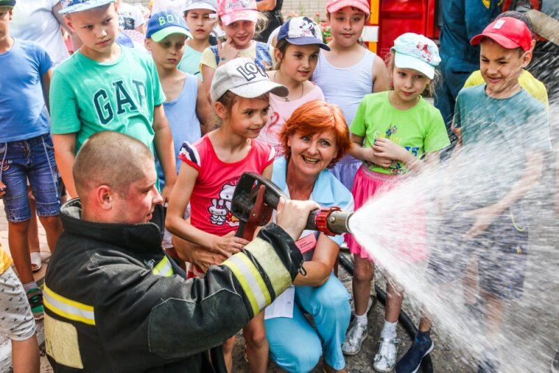 В Волгоградском областном детском санатории тушили условный пожар