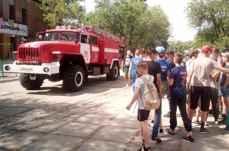 В детском лагере в Иловлинском районе ликвидировали условный пожар