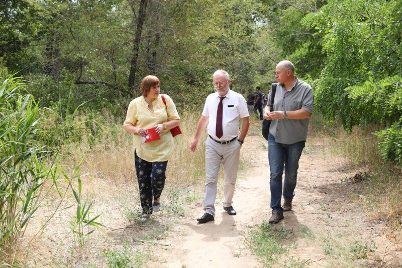 Подрядчик при благоустройсте правого склона поймы реки Царицы обещает сохранить зеленый фонд