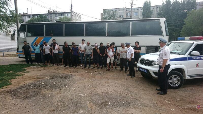 В Волгоградской области задержали нелегальных мигрантов