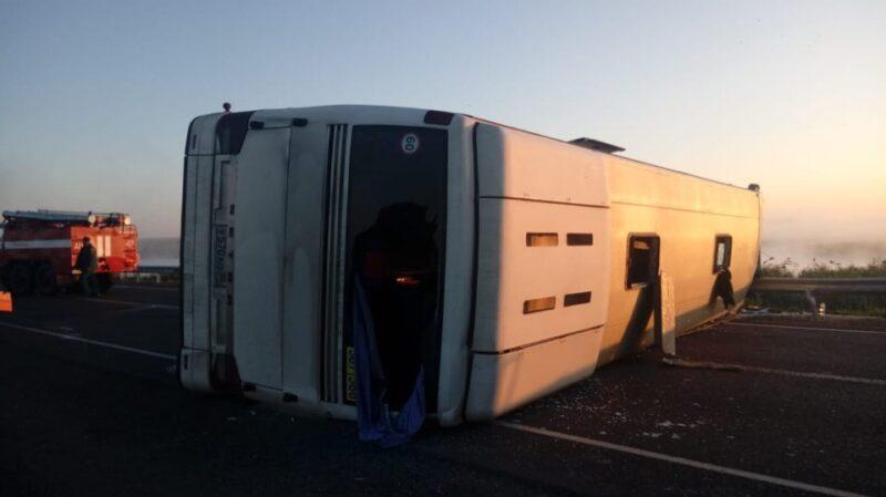 В МВД назвали возможную причину лобового ДТП «Renault Sandero» с рейсовым автобусом