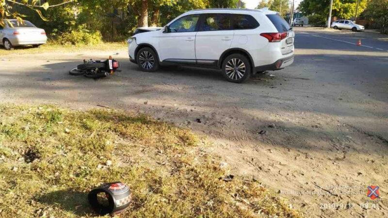 В регионе водители иномарок покалечили двух мотоциклистов