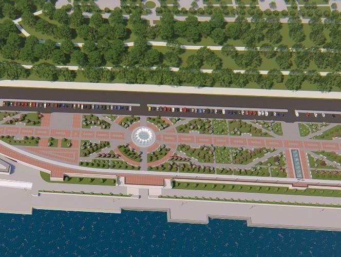 Дизайнерские фонтаны заработают на набережной Волгограда