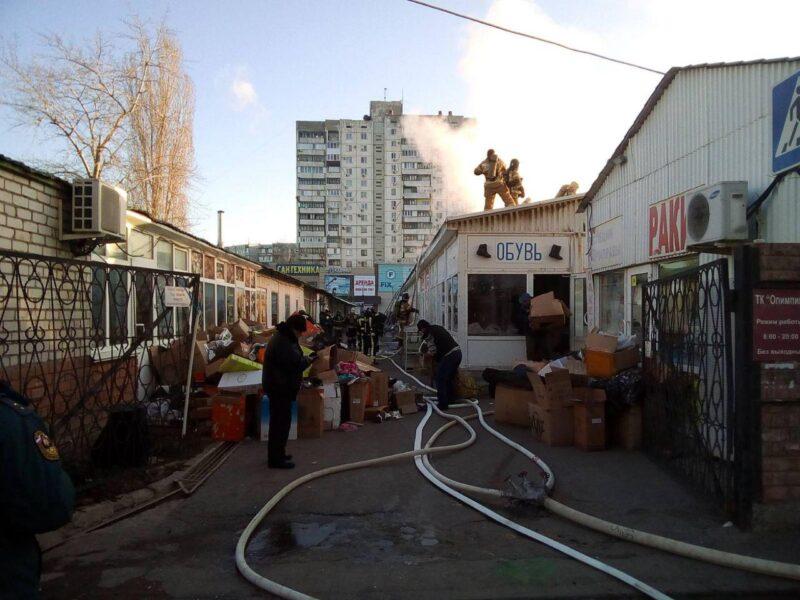 """Стали известны подробности пожара на рынке """"Олимпия"""""""