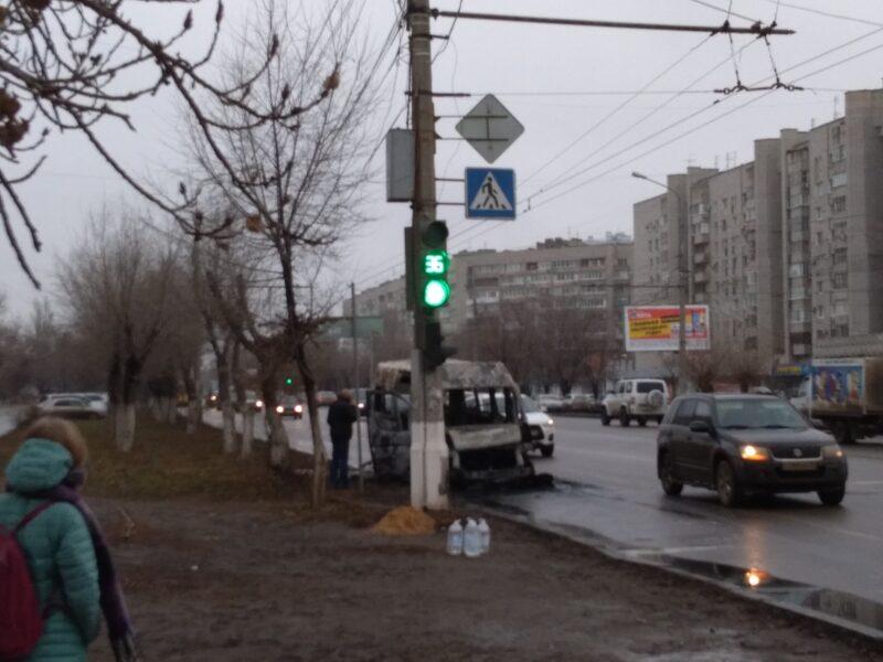 «В салоне были пассажиры»: в Волгограде дотла сгорела маршрутка №59
