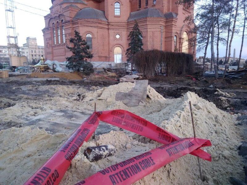 У строящегося Храма Александра Невского нашли снаряд
