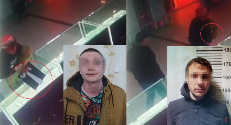 Кража ювелирных изделий в Красноармейском районе попала на видео