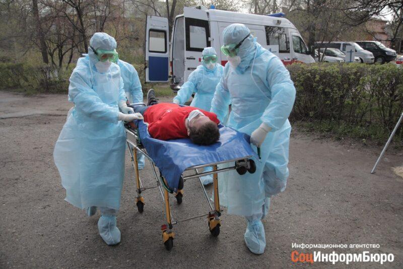 В Волгограде инсценировали госпитализацию больных коронавирусом