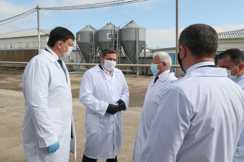 Андрей Бочаров провел выездное совещание на волжской птицефабрике